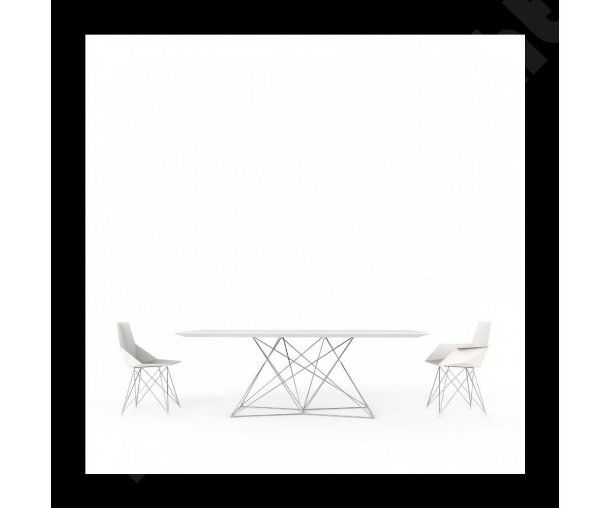 Design tisch wei metall esstisch modern wei l nge 200 cm for Designer tisch weiss