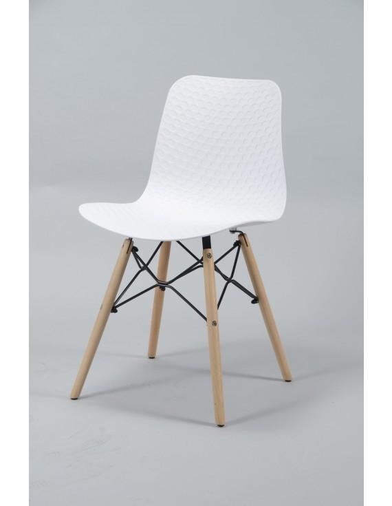 Stuhl Weiss Design Stuhl Kunststoff Holz Weiss