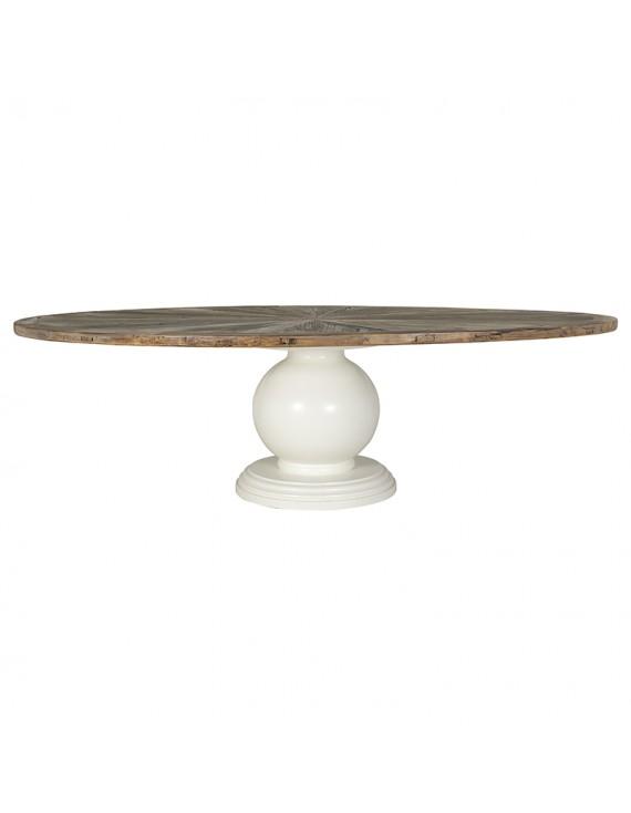 Ovaler Esstisch Massivholz Tischplatte, Tisch oval im Landhausstil