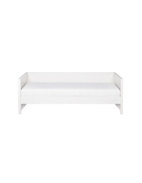 Bett aus Kiefernholz, Sofabett weiß, Länge 208cm