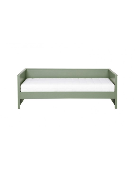 Bett aus Kiefernholz, Sofabett grün, Länge 208cm