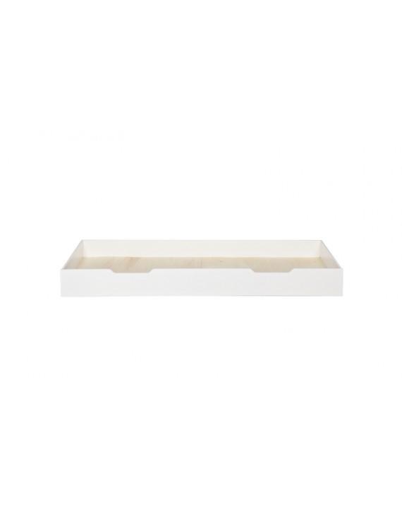 Bettschublade aus Kiefernholz, weiß, Länge 198 cm