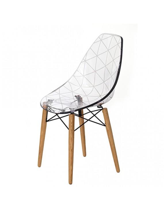 Stuhl transparent design stuhl holz gestell for Stuhl transparent design