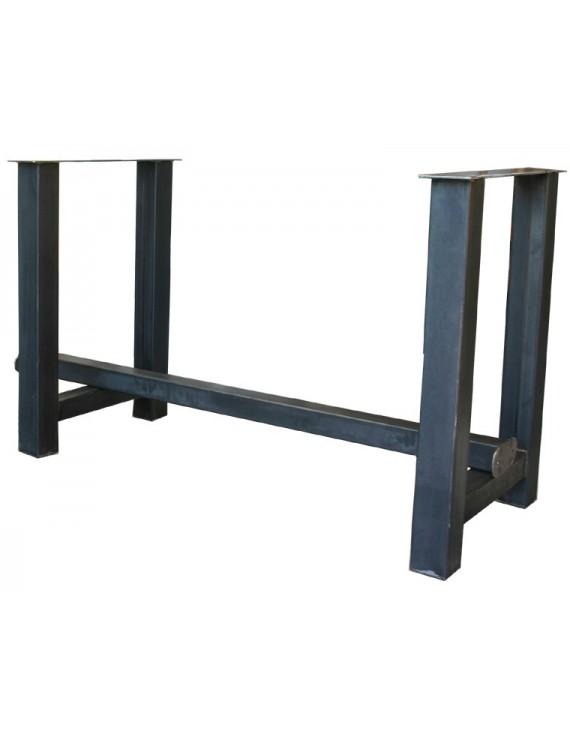Bartisch Metall 3er set, bartisch-gestell metall grau, tischgestell bar metall
