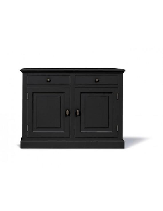 sideboard schwarz schrank schwarz landhaus anrichte schwarz landhausstil breite 126 cm. Black Bedroom Furniture Sets. Home Design Ideas