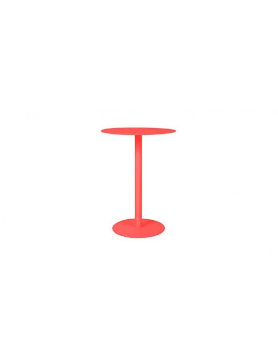 Beistelltisch rot,  Tisch Metall rot, Durchmesser 45 cm