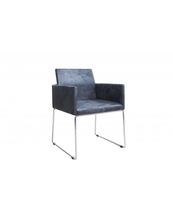 Stuhl Grau Vintage Mit Armlehne Besucherstuhl Grau Stuhl Mit