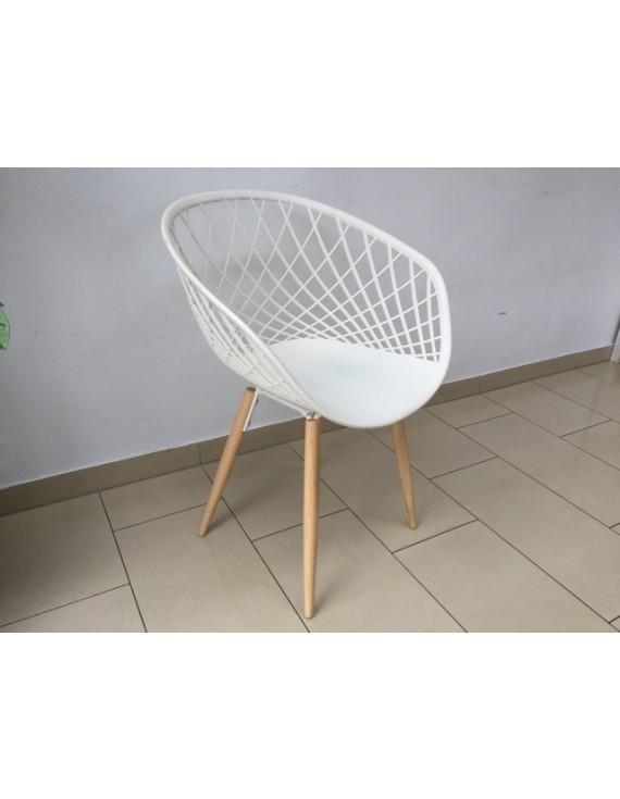 Stuhl weiß, Design Stuhl weiß Stuhlbeinen Holz