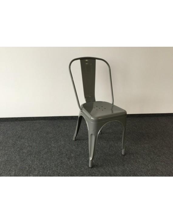 Stuhl Metall grau Industriedesign, Metall-Stuhl grau, Sitzhöhe 45 cm