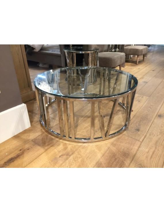 Tisch Rund Metall Glas.Couchtisch Rund Glas Verchromt Couchtisch Metall Gestell