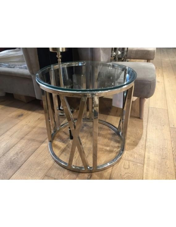 Tisch Rund Metall Glas.Beistelltisch Rund Glas Verchromt Couchtisch Metall Gestell