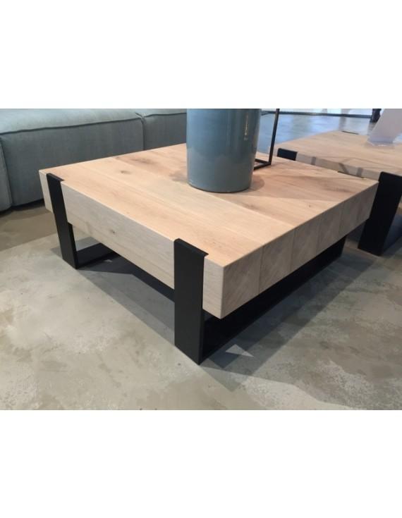 Couchtisch Metall Gestell Tisch Holz Maße 70x70 Cm