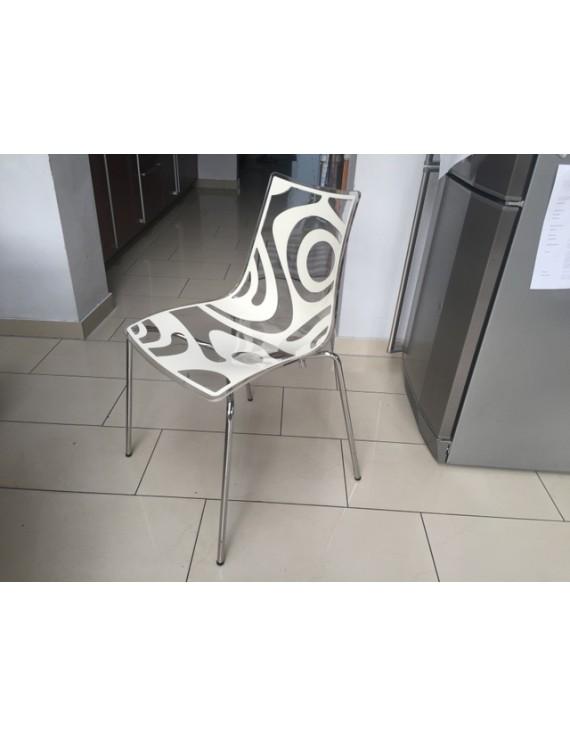 Design stuhl stapelbar stuhl taupe transparent for Stuhl transparent design