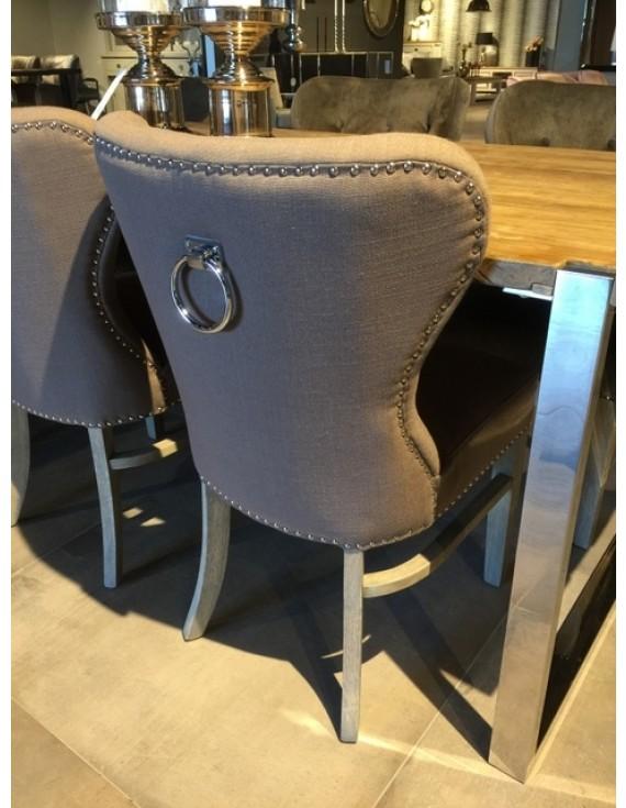 Stuhl Taupe Gepolstert Stuhl Landhaus Gepolstert Farbe Taupe