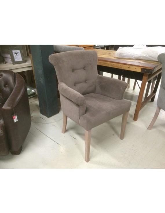 Gepolsterter Stuhl Mit Armlehne Stuhl Braun Grau