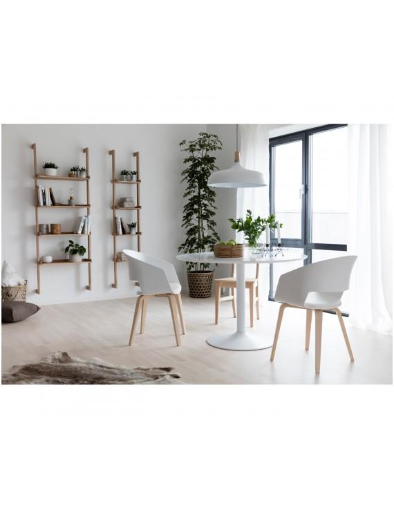 tisch wei esstisch wei rund tisch rund wei durchmesser 110 cm. Black Bedroom Furniture Sets. Home Design Ideas