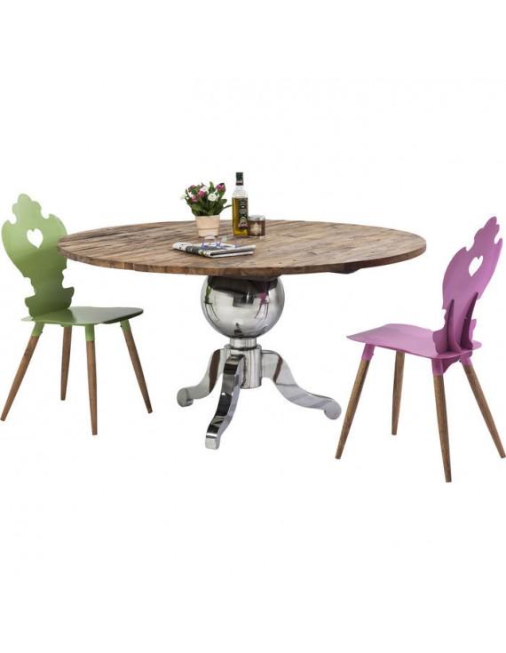 Esstisch rund landhaus  Landhaus Tisch rund Tischgestell verchromt, Esstisch rund Landhaus ...