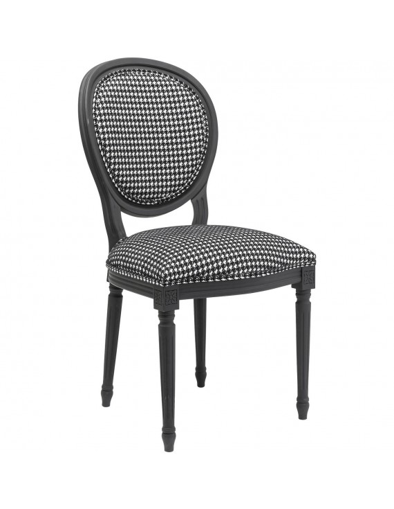 Stuhl schwarz weiß Barock Barock Stuhl gepolstert