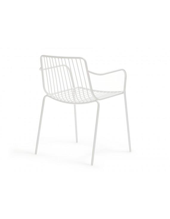 Gartenstuhl weiß Metall mit Armlehne, Stuhl weiß mit Armlehne Metall ...