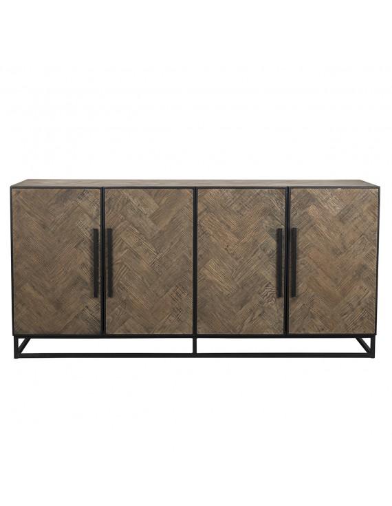 sideboard braun holz metall anrichte braun. Black Bedroom Furniture Sets. Home Design Ideas