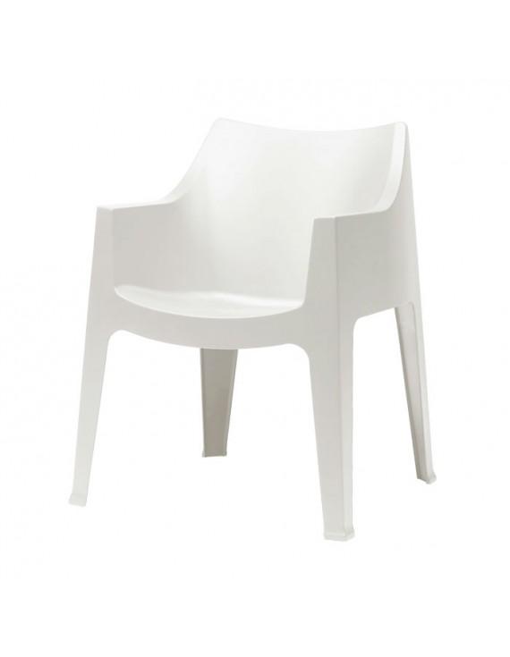 Sehr Gartensessel weiß, Gartenstuhl weiß Kunststoff, Stuhl weiß stapelbar VL88