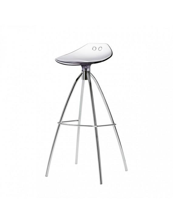 barhocker transparent sitzh he 65 cm beine verchromt. Black Bedroom Furniture Sets. Home Design Ideas