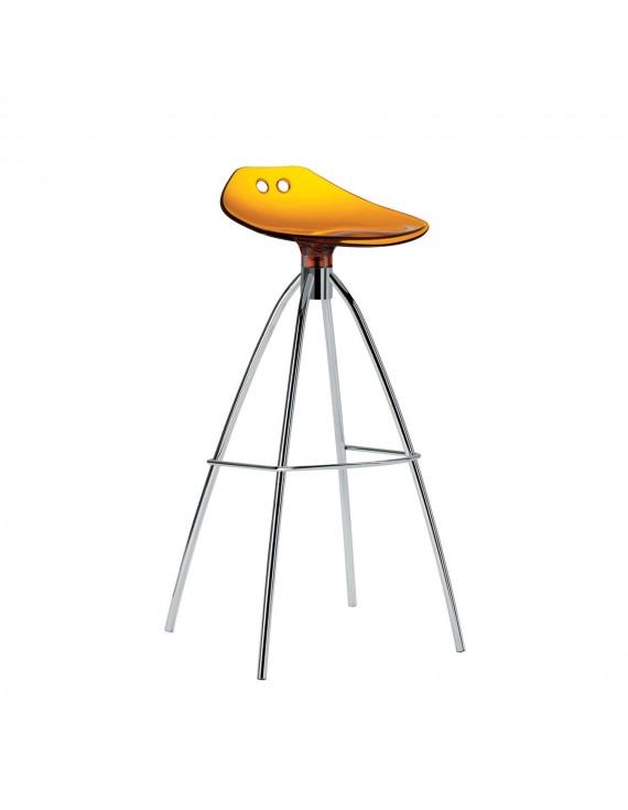 barhocker orange transparent sitzh he 65 cm beine verchromt. Black Bedroom Furniture Sets. Home Design Ideas