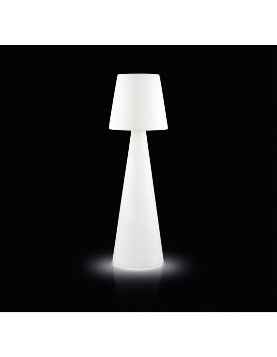 Stehleuchte aus Kunststoff, Outdoor Stehlampe mit Lampenschirm in verschiedenen Farben, Höhe 200 cm