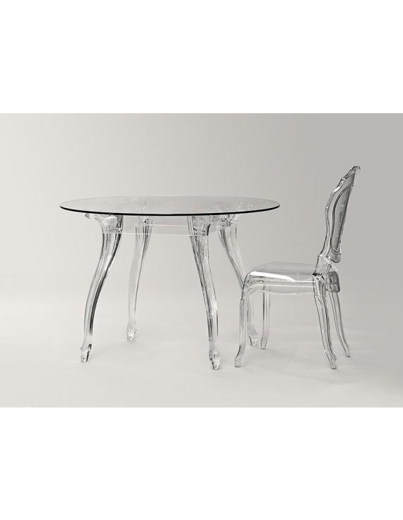 Tisch Barock Glas Und Policarbonat Esstisch Rund Glas Tisch Rund