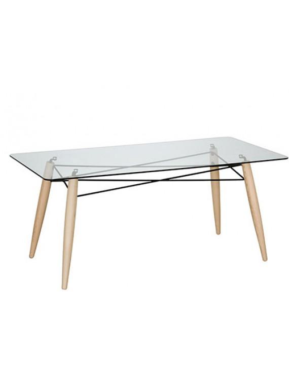 Berühmt Tisch Holz-Tischbeine, Esstisch Glas Tischplatte, Tisch OU28