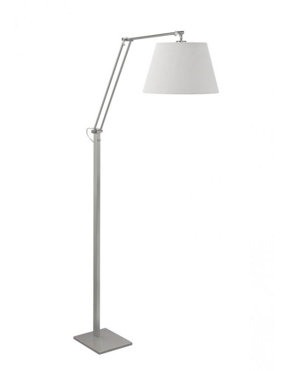 Stehlampe Silber Modern Stehleuchte Silber Lampenschirm Weiss