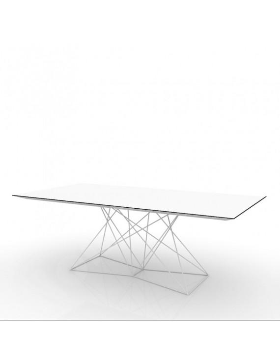 Design tisch wei metall esstisch modern wei l nge 200 cm for Esstisch modern weiss