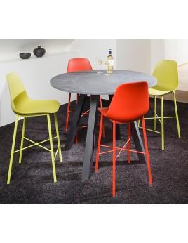 Barstuhl rot, Barstuhl in 8 Farben, Sitzhöhe 65 cm