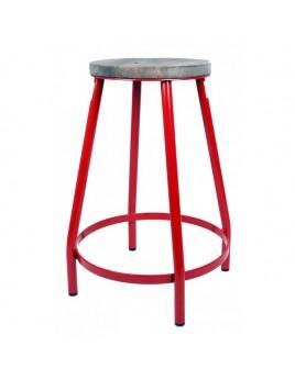 Barhocker rot, Barhocker Metall, Höhe 53 cm