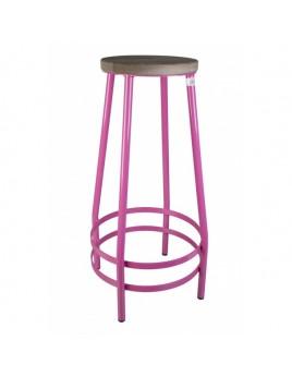 Barhocker pink,  Barhocker Metall, Höhe 53 cm