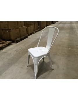Stuhl Metall weiß  Industriedesign, Sitzhöhe 45 cm
