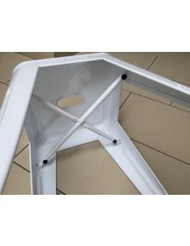Hocker weiß Metall Industriedesign, Sitzhöhe 45 cm