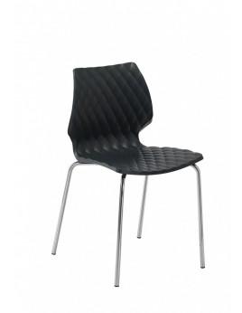 Stuhl für Objekteinrichtung, Stuhl Metall-Kunststoff