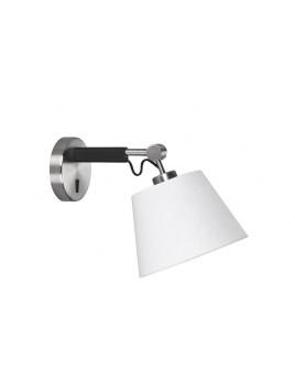 Wandlampe schwarz mit Lampenschirm, Wandleuchte Lampenschirm weiß