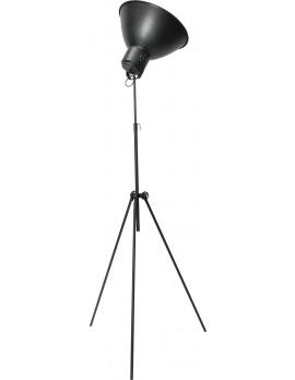 Stehleuchte mit drei Beinen in Metalloptik, Gunmetal, Industrielampe/ Retro-style, Höhe 205 cm