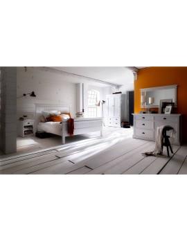 Doppelbett im Landhausstil weiß, Breite 180 cm