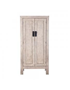 Schrank/Kabinet aus massivem Holz mit 2 Türen, Höhe 200 cm