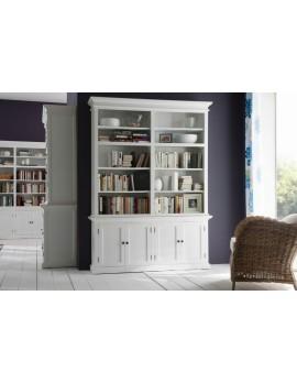 Bücherregal/zweiteiliges Cabinet im Landhausstil in weiß