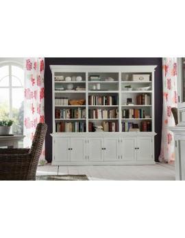 Bücherregal/dreiteiliges Cabinet im Landhausstil in weiß