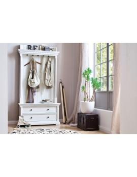 Garderobe im Landhausstil, weiß mit 2 Schubladen