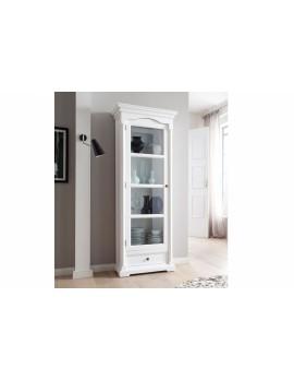 Vitrine im Landhausstil in weiß mit Glastür