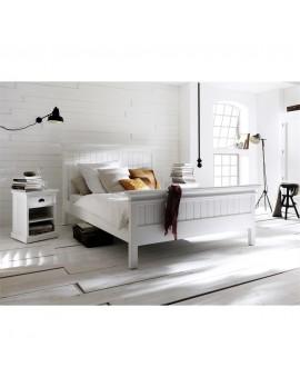 Doppelbett im Landhausstil in weiß, King Size, Breite 180x200 cm