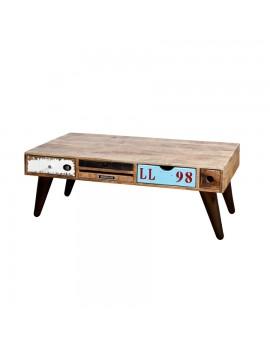 Couchtisch mit 10 Schubladen, rustikal, industriestyle, Breite 120 cm