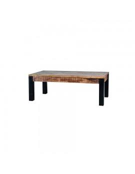Couchtisch aus massiven Akazienholz, Industriestyle, BreitexTiefe 130x70 cm