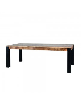Esstisch aus massiven Akazienholz, Industriestyle, BreitexTiefe 160x90 cm